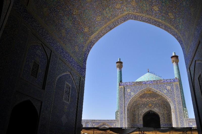 05.Esfahan - pri vstupe do Emámovej mešity