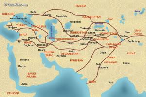 Hodvábna cesta, iranreview.org