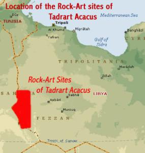 Lokalita uprostred Sahary